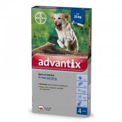 """אדוונטיקס טיפות למניעת פרעושים וקרציות לכלבים מעל 25 ק""""ג"""