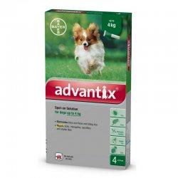 """אדוונטיקס טיפות למניעת פרעושים וקרציות לכלבים עד 4 ק""""ג"""