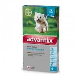 אדוונטיקס טיפות למניעת פרעושים וקרציות לכלבים 4-10 קג