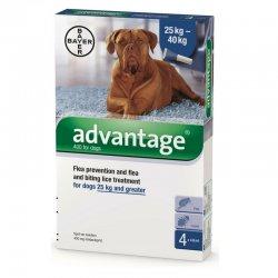 """אדוונטאג' טיפות למניעת פרעושים בכלבים מעל 25 ק""""ג"""