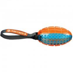 טריקסי-TRIXIE כדור רוגבי גומי עמיד במיוחד עם ידית משיכה