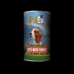 שימורים לכלבים עם בשר הודו במרקם פטה