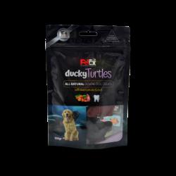 חטיף יבש מלא לכלבים בדמות צב במילוי בשר ברווז 100 גרם