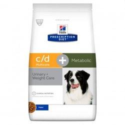 """מזון רפואי לכלבים הילס C\D מולטיקייר + מטבוליק 12 ק""""ג"""