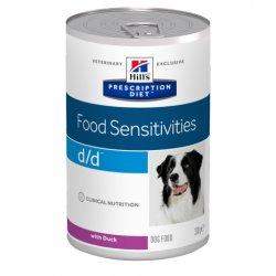 מזון רפואי לכלב הילס d\d ברווז