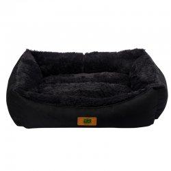 מיטה לכלב נגד מים שחורה כרית פרווה