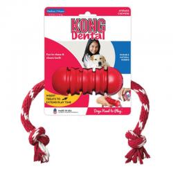 קונג דנטל צעצוע לכלב לניקוי שיניים + חבל אקסטרים