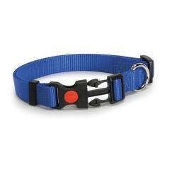 קולר ניילון כחול לכלב - camon