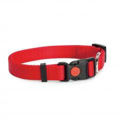 קולר ניילון אדום לכלב - camon