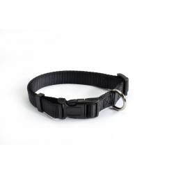 קולר ניילון שחור לכלב - camon