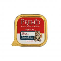 פרמיו מעדן פטה לגורי חתולים עוף וכבד 100 גר'