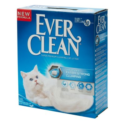 חול לחתול Everclean - אברקלין עוצמה מחוזקת ללא בישום